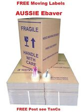 40 X 100L MOVING BOXES +  REMOVALIST PACKAGE+ 40 FREE moving labels DEAL