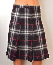 BNWOT impresionante Burberry London largo lana Nova comprobar falda --- UK 8 EE. UU. 6