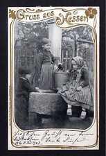 113440 AK Hessen 1903 Kinder an Wasserpumpe