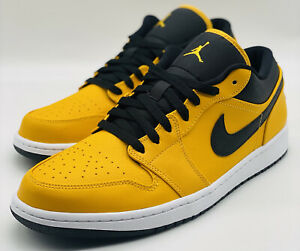 NEW Nike Jordan 1 Low University Gold Black 553558-700 Men's Size 13