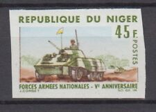 1966 NIGER #177 MILITARY TANK ARMED FORCES Imperf Proof MNH