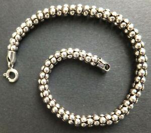 Sterling Silber Armband * Nagelneu * Popcorn Kette, 19.8cm, 4.5mm breit * mehr Längen *