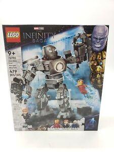 New Lego Marvel Infinity Saga 76190 Iron Man Iron Monger Mayhem 9+ 479 pc Sealed
