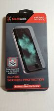 Lot of 4 BlackWeb Glass Screen Protectors for iPhone SE/5/5S (NEW)