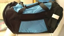 "18"" DUFFLE  BAG TRAVEL, SCHOOL, GYM BLACK/BLUE NEW"