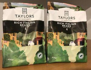 Taylors of Harrogate Rich Italian Coffee Beans, 454 g, Pack of 2