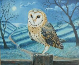 OIL PAINTING OF OWL