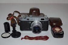 Fed-2 (Type B4) Vintage 1958 Soviet Rangefinder Camera & Case. Serviced.  354161