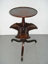 Antique STEREOVIEW CARD TABLE, Rare 2-Tier Revolving Display Stand, Ca. 1880s