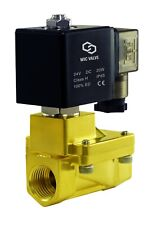 12 Inch Brass High Pressure 230 Psi Electric Solenoid Process Valve 24v Dc Nc