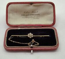 Pearl Yellow Gold Brooch/Pin Edwardian Fine Jewellery