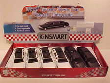 6 Pack of 1999 Limousine Ford Lincoln Town Car Die-cast 1:38 Kinsmart 6 inch