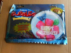 Ballon Double BUBBLES Qualatex 61cm de diamètre Fleurs et papillons