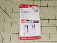 Singer REGULAR PT Needles- Style 2020:(Item 4766) 80/11, 90/14, 100/16 - 5 pack