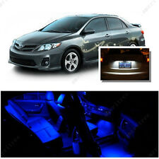 For Toyota Corolla 2003-13 Blue LED Interior Kit + Xenon White License Light LED