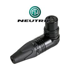 fiche NEUTRIK XLR femelle 3 Broches Noire Coudé 90° NEUTRIK NC3FRX B Noir