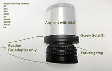 Helicoid adapter for projection lenses with 62.5 diameters For Sony E,FE mount
