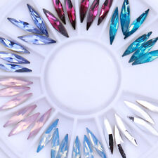 3D Opal Marquise Rhinestones Charmings Resin  Nail Art Decoration Wheel