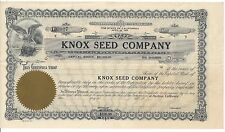 KNOX SEED COMPANY (STOCKTON, CA)....UNISSUED STOCK CERTIFICATE