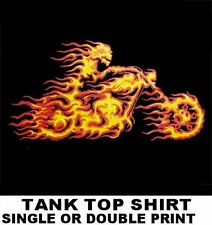 GHOST MOTORCYCLE HELL RIDER IN FLAMES V-TWIN BIKER TANK TOP SHIRT WS202