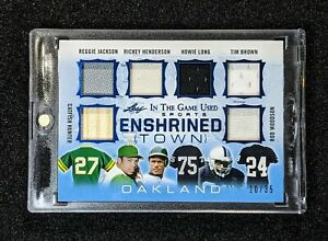 2020 Leaf In The Game Used Sports Enshrined Town OAKLAND Long Brown Woodson /35