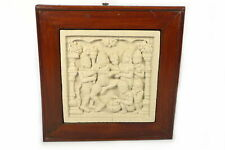 Wandbild Relief Motiv Der Tanz 24x28cm Sandstein Steinguß Indonesien Handarbeit