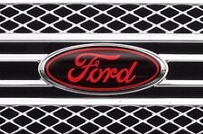 Vinyl Decal Sticker Badge Oval Logo Overlay For Ford F-150 2007-2014 BLACK RED