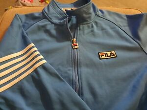 Mens FILA Blue Tracksuit Track Top  - Size Large