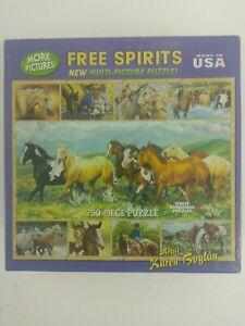 White Mountain Free Spirits By Karen Boylan Horse Puzzle Sealed 750 Pieces
