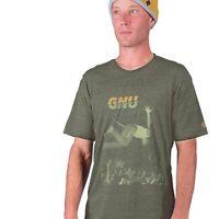 GNU snowboard skateboard surf COLVER PUNK TEE-SHIRT mens SMALL GREEN New