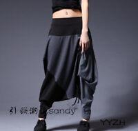Y Korean Womens Street Striped Loose Trousers Leisure Sport Hip Hop Harem Pants