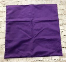 "Purple Velvet Pillow Case Sham 22"" X 22"" Soft Zip Closure Set Of 2"