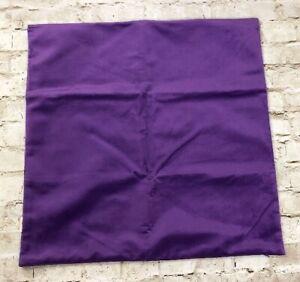 "Purple Velvet Pillow Case Sham 22"" X 22"" Soft Zip Closure Set Of 2"