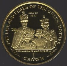 More details for 2000 isle of man silver gilt proof crown coronation scene | pennies2pounds