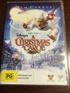 A CHRISTMAS CAROL Disney Jim Carrey Very Good Condition DVD R4 PAL