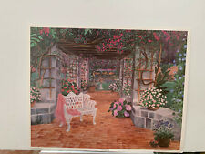 a 29X23 CONSUELO GAMBOA  - hand signed - Patio Dreams - NEVER FRAMED!