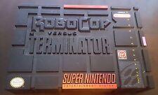 Robocop Versus The Terminator Super Nintendo Snes In Real Box! Cleaned! Rare!