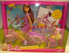 Barbie Sisters' Bike for Two! Skipper and Chelsea dolls included with bike.