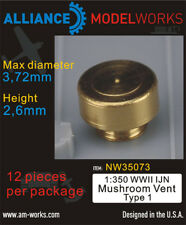 Alliance Model Works 1:350 WWII IJN Mushroom Vent Type 1 Detail Set #NW35073