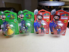 (Lot of 4) Super Mario figurines (all different) Series 1 & 2