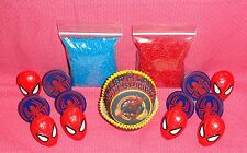 Spiderman,Cupcake Kit,Rings,Sprinkles,Bake Cups,Wilton,415-5062,Red/Blue