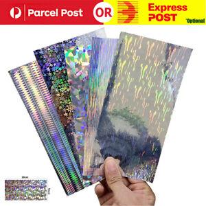 10X Reflective DIY Fishing Lure Sticker Holographic Adhesive Film Flash Tape AU