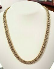 14kt Yellow Gold and Sterling Silver Chain