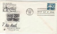 united states 1958 booklet pane stamps cover ref 20020
