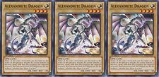 Alexandrite Dragon X 3 1st Mint YSKR-EN011 yugioh
