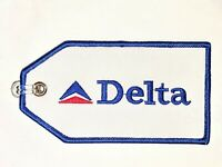 Delta Airlines Luggage ID Bag Tag 1980s Logo and Livery High-Quality Embroidered