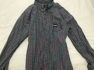 RIP CURL Red & Blue Checkered Slim Fit Long Sleeve shirt - L