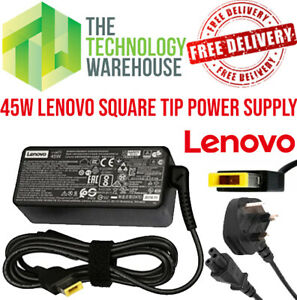 Genuine Lenovo 45W charger PSU Square Tip -20V 2.25A - AC Adapter + Power Cable