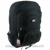 NEW Mens Boys Black BACKPACK RUCKSACK by RED X School College Sport Bag Travel