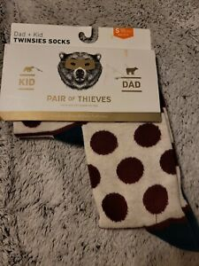 Pair of Thieves Men's Holiday Dot Striped Dad Kid Casual Socks Gray/Burgundy S